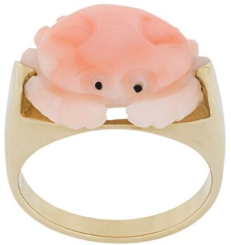 ALIITA 9kt Yellow Gold Crab Ring