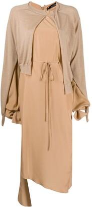 Rokh Asymmetric Layered Dress