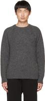 Ami Alexandre Mattiussi Grey Knit Pullover