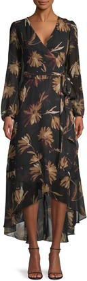 Tommy Hilfiger Moody Floral Belted Wrap Dress