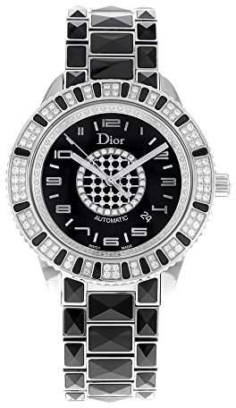 Christian Dior Women's CD115511M001 Christal Black Diamond Dial Watch