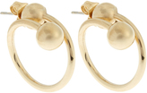 J.W.Anderson Double-sphere gold-plated hoop earrings