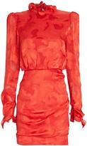 Saloni Rina Jacquard Mini Dress