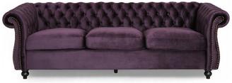 Gdfstudio GDF Studio Vita Chesterfield Tufted Jewel Toned Velvet Sofa w/ Scroll