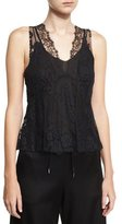 McQ by Alexander McQueen Hybrid Lace Top, Black