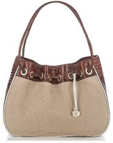 Brahmin Amy Drawstring Bucket Bag - Brown