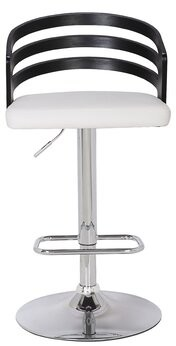 AC Pacific Adjustable Height Swivel Bar Stool AC Pacific Color: Black