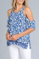 Minx Blue Floral Blouse
