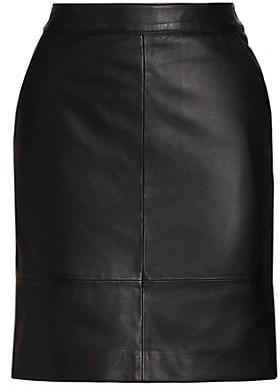 Gestuz Char Leather Mini Skirt