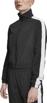 Urban Classics Women's Ladies Short Striped Crinkle Track Jacket