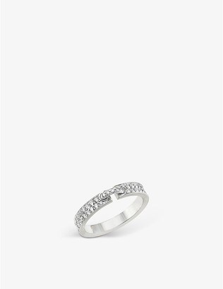 Chaumet Women's White Liens Xs 18ct White-Gold And Diamond Wedding Band, Size: 50mm