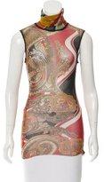 Jean Paul Gaultier Semi-Sheer Abstract Print Top