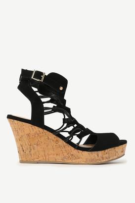 Ardene Caged Cork Heeled Sandals