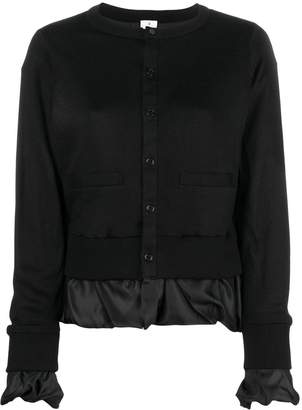 Comme des Garcons satin layered effect knitted cardigan