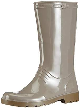 Chuva Women's IRIS DAMESLAARS PVC Unlined Rubber Boots Half Shaft Boots & Bootees Grey Size: