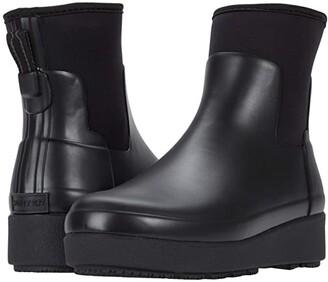 Hunter Refined Creeper Neo Chelsea (Black) Women's Shoes