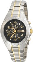 Pulsar Men's Two-Tone Chronograph Black Dial watch #PF8188