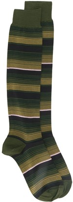 Marni Long Striped-Jacquard Socks