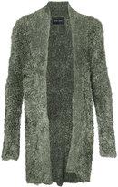 Baja East long open cardigan - unisex - Silk/Polyamide - 1