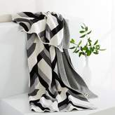 west elm Happy Habitat Recycled Cotton Throw - Tucked in Grays