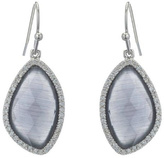 Gemma Collection Rhodium Pave Earrings