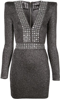 Balmain Lurex Fitted Mini Dress