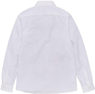 Very Boys 3 Pack Long Sleeve Slim FitSchool Shirts- White