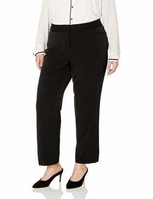 Rafaella Women's Plus Size Women'sSlim Leg Gaberdine Pant