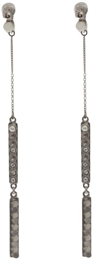 Palladium Delphine-Charlotte Parmentier long earrings