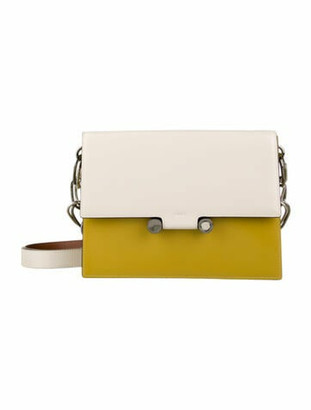 Marni Patent Leather Caddy Bag chartreuse
