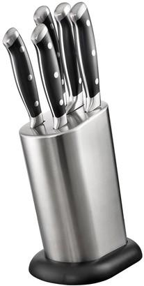 Baccarat Artisan Stahl 6 Piece Knife Block