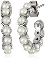 Marc Jacobs Pearl Cabochon Hoop Earrings