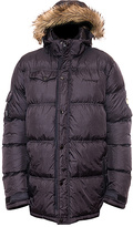 BearPaw Black Durham Hood Puffer Coat - Men