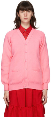COMME DES GARÇONS GIRL Pink Lochaven of Scotland Edition Knit Cardigan