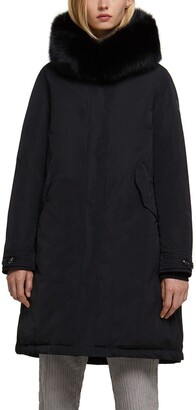 Woolrich Keystone Hooded Down Parka with Genuine Fox Fur Trim