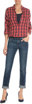 7 For All Mankind Cuffed Straight Leg Jeans