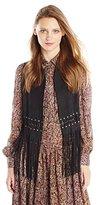 Rebecca Minkoff Women's Suede Blondie Fringe Vest