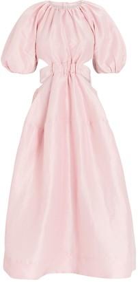 Aje Mimosa Puff Sleeve Midi Dress