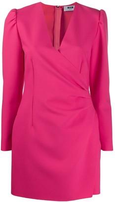 MSGM short wrap-style dress