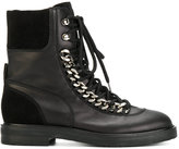 Casadei chain-trimmed City Rock boots - women - Calf Leather/Nappa Leather/Calf Suede/rubber - 37