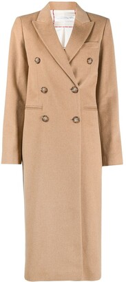 Victoria Beckham Double-Breasted Long Coat