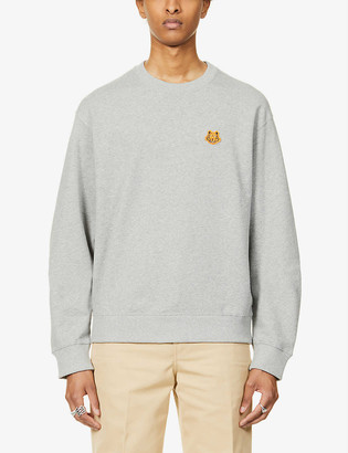 Kenzo Graphic-embroidered cotton-jersey sweatshirt