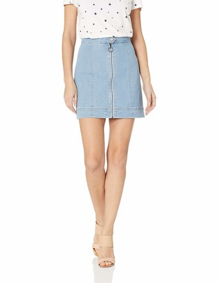 The Fifth Label Women's Day Dreaming Denim Zipper Front Short Mini Skirt