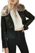 Topshop PETITE Honey Biker Jacket