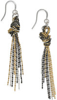 Charter Club Tri-Tone Knotted Drop Earrings, Only at Macy's