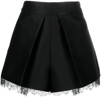 Emporio Armani Lace-Trim Satin Shorts