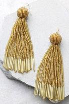 Vanessa Mooney Charlize Gold Beaded Earrings