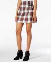 Freestyle Juniors' Plaid Pleated-Back Mini Skirt