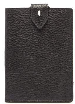 Maison Margiela Four-stitch Grained-leather Passport Holder - Mens - Black