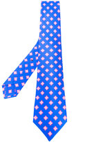 Kiton medallion pattern tie - men - Silk - One Size
